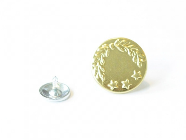 Single jeans button (16 mm) - gold-coloured