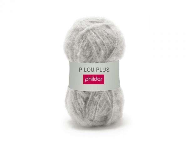 Laine à tricoter Pilou Plus - Gris galet