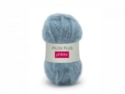 "Knitting wool - ""Pilou Plus"" - Jeans blue"