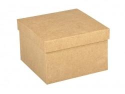 Viereckige Schachtel aus Pappmaschee, zur individuellen Gestaltung - 15,5 cm