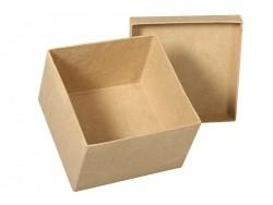 Customisable papier mâché square box - 15.5 cm