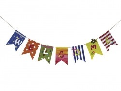 Zigzag paper pennant garland