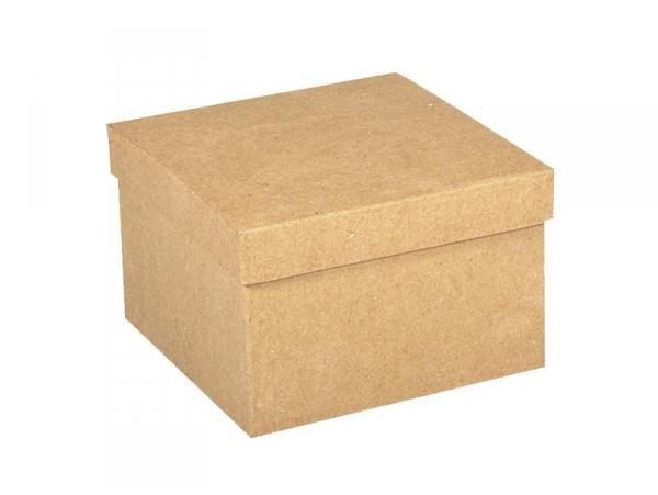 boite carrée à customiser en papier mâché - 12.5 cm Rayher - 1