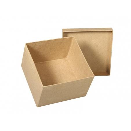 boite carrée à customiser en papier mâché - 12.5 cm Rayher - 2