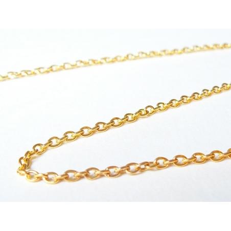 1m chaine forçat dorée 3 mm