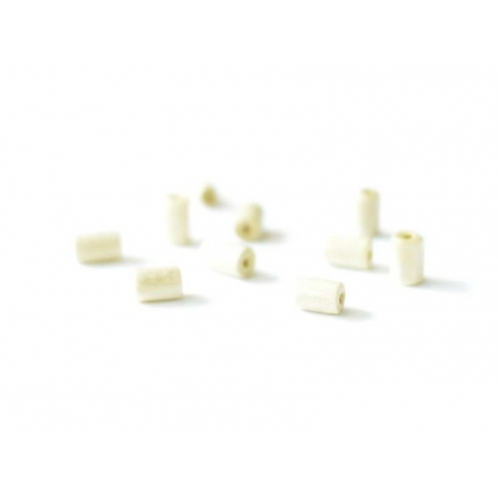 10 perles en bois tube - 5 mm  - 3