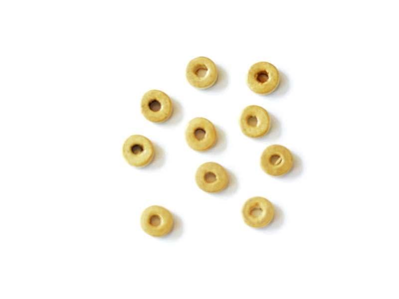 Acheter 10 perles en bois - Rondelle ocre 8 mm - 0,39€ en ligne sur La Petite Epicerie - Loisirs créatifs
