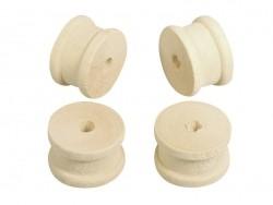 12 Spulen aus hellem Holz - 2,5 cm Durchmesser