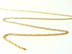1 m goldfarbene Ankerkette - 3 mm