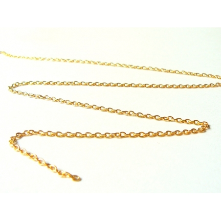 1 m of gold-coloured cable chain, 3 mm
