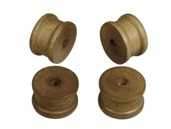 12 Spulen aus dunklem Holz - 2,5 cm Durchmesser
