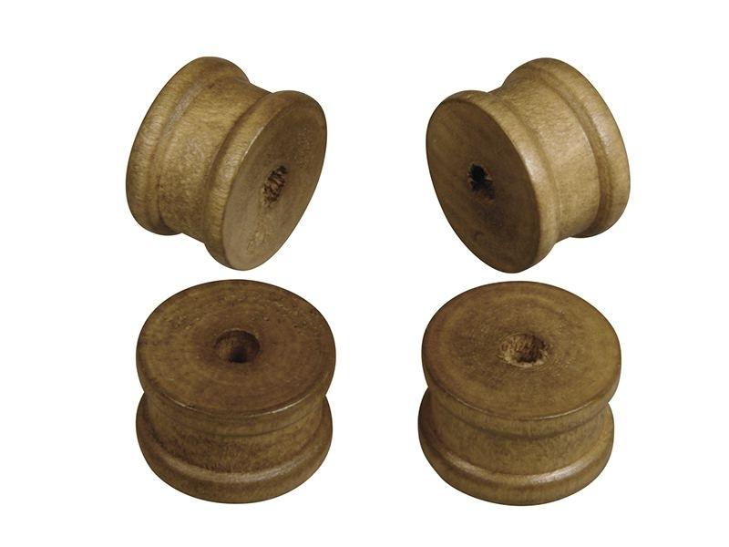 12 bobines en bois foncé - diamètre 2,5 cm