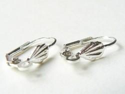 1 Paar muschelförmige Ohrringe mit Klappbügelverschluss