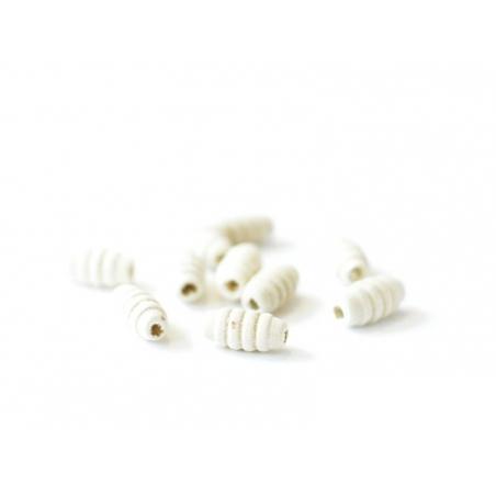 Acheter 100 perles en bois - Tube à plis 8 mm - 1,99€ en ligne sur La Petite Epicerie - Loisirs créatifs