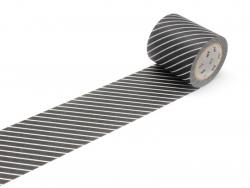 Masking tape Casa - rayé Noir