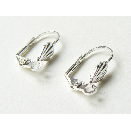 1 pair of shell-shaped lever back earrings