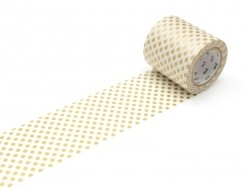 Casa Masking Tape - Gold-coloured polka dots