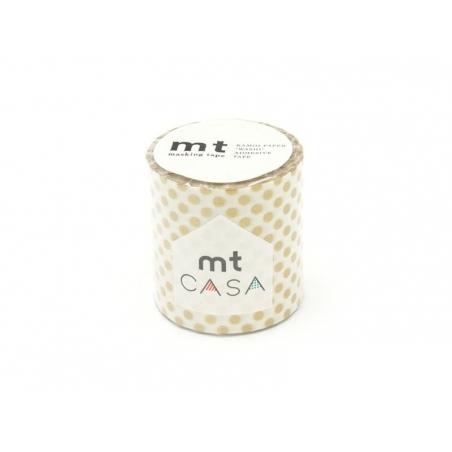 Acheter Masking tape Casa - pois dorés - 9,60€ en ligne sur La Petite Epicerie - 100% Loisirs créatifs