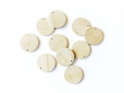 10 wooden beads - Ball (34 mm)