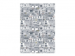 3 sheets of déco maché paper - City