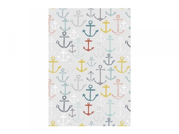 3 sheets of déco maché paper - Anchors