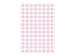 3 sheets of déco maché paper - Pink gingham pattern