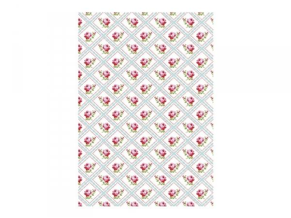 3 sheets of déco maché paper - Flowers