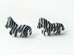 Acheter Boucles d'oreilles zèbres - 4,99€ en ligne sur La Petite Epicerie - 100% Loisirs créatifs