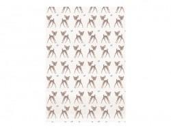 3 sheets of déco maché paper - Fawn
