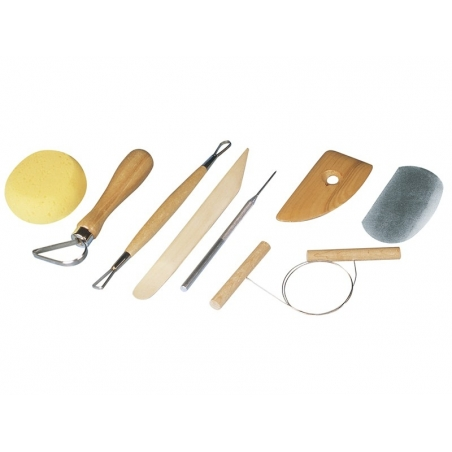 Pottery tool kit - 8 pieces