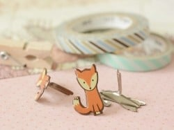 16 brass fasteners - Fox