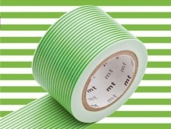set 2 Masking tape motifs - pois et rayures Verts