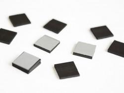 10 carrés de feuille magnétique autocollante
