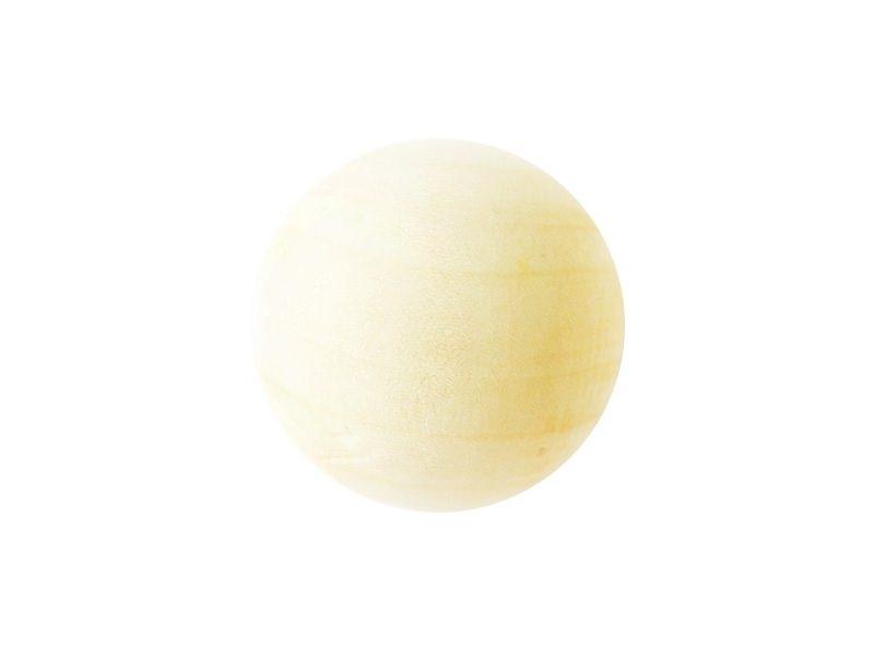 1 perle en bois - Ronde 40 mm