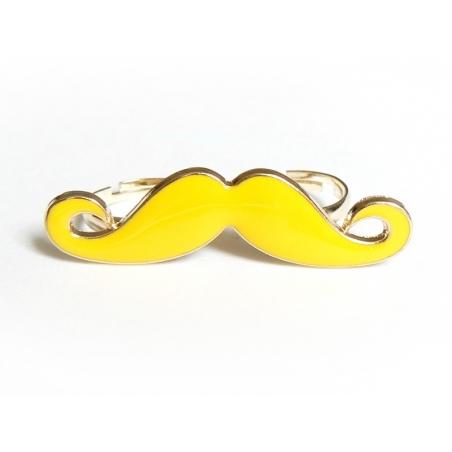 Une double bague moustache jaune