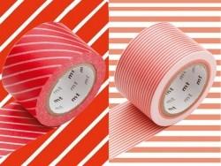 set 2 Masking tape motifs - rayures rouges