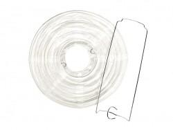 2 lampions en papier - diamètre 20 cm