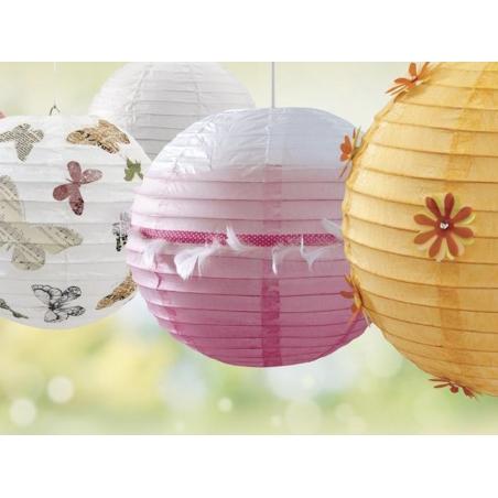 Acheter 2 lampions en papier - diamètre 20 cm - 3,60€ en ligne sur La Petite Epicerie - 100% Loisirs créatifs