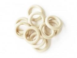 10 perles en bois - Anneau 45 mm