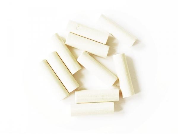 10 perles en bois - Tube 40 mm