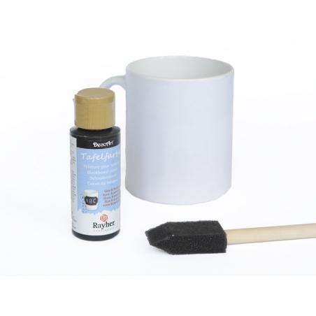 peinture pour tableau pour verre et porcelaine noir. Black Bedroom Furniture Sets. Home Design Ideas