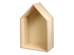 Customisable, house-shaped wooden frame - small