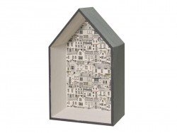 Holzrahmen in Form eines Hauses, zur individuellen Gestaltung - klein