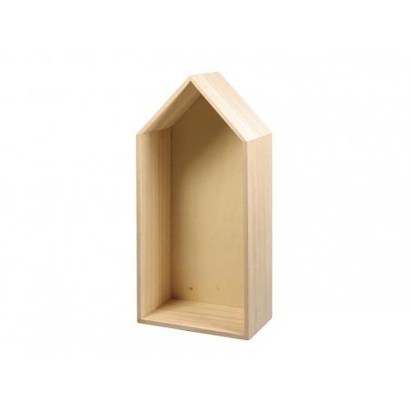 Acheter Cadre en bois maison à customiser - grand - 8,50€ en ligne sur La Petite Epicerie - Loisirs créatifs