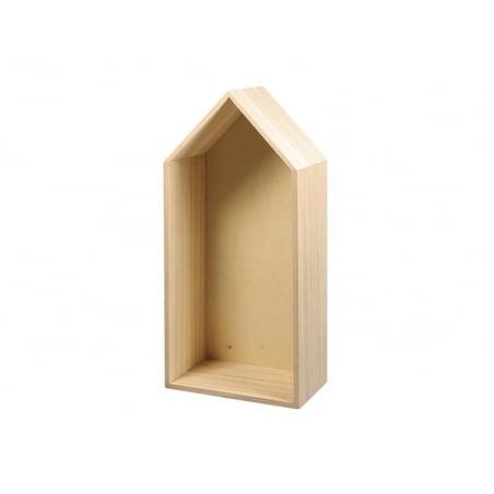 Customisable, house-shaped wooden frame - big