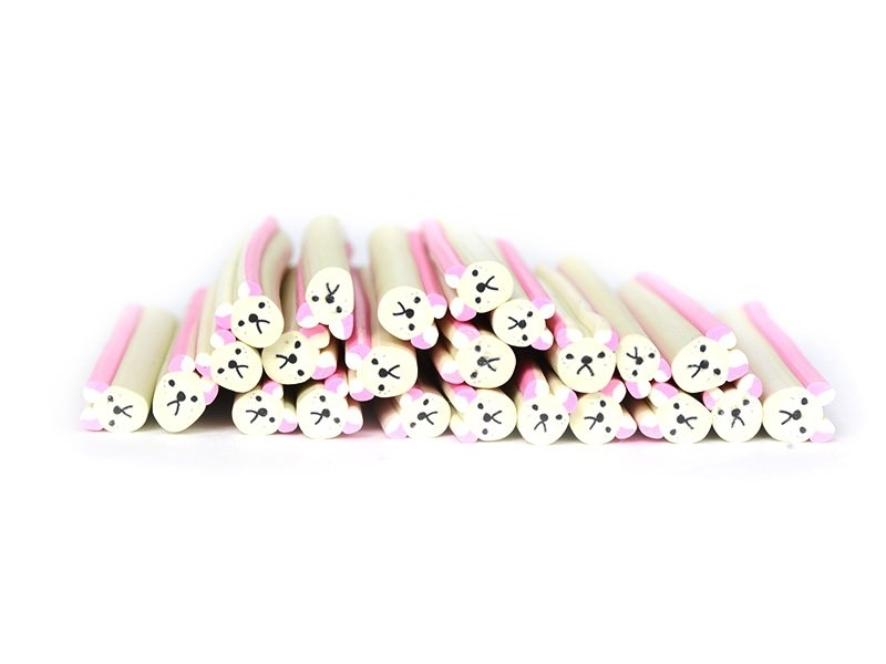 Acheter Cane petit ours beige en pâte fimo - à découper en tranches - 0,99€ en ligne sur La Petite Epicerie - Loisirs créatifs