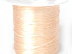 12 m de fil élastique brillant - Rose pêche