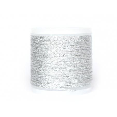 50 m bobbin embroidery thread - silver
