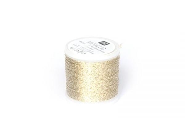 Bobine 50 m de fil à broder - or
