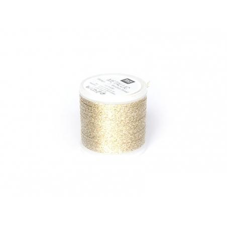 50 m bobbin embroidery thread - gold
